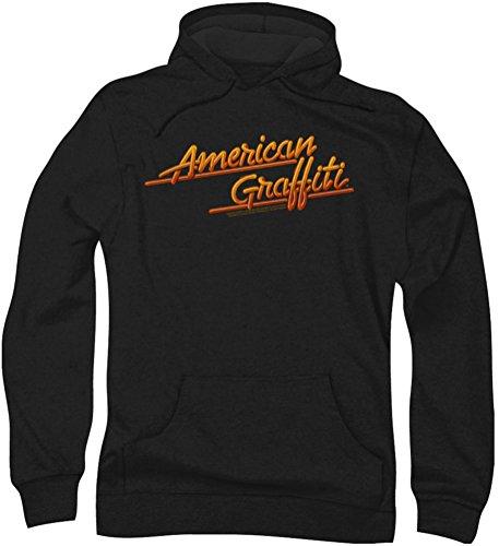 American Grafitti - - Neon Logo Hommes Hoodie, Large, Black