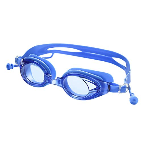CUCM Schwimmbrille für Kinder,Professionelle Schwimmbrille Schwimmbrille mit Ohrstöpseln Anti-Fog HD Brille