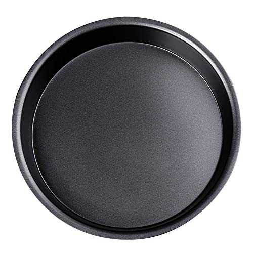 IME Pizza Pan Nonstick Pizzas Tray Sheet Carbon Steel Pie Pan Baking Pans Deep Dish for Home Kitchen Bakeware Bread Cake Handmade 10 Inch