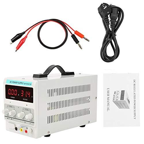 DC Einstellbar Stromversorgung, Labornetzgerät 0-30V / 0-10A, Digitalanzeige Labornetzteil Netzteil Strommessgeräte, Allround-Schutzfunktionen