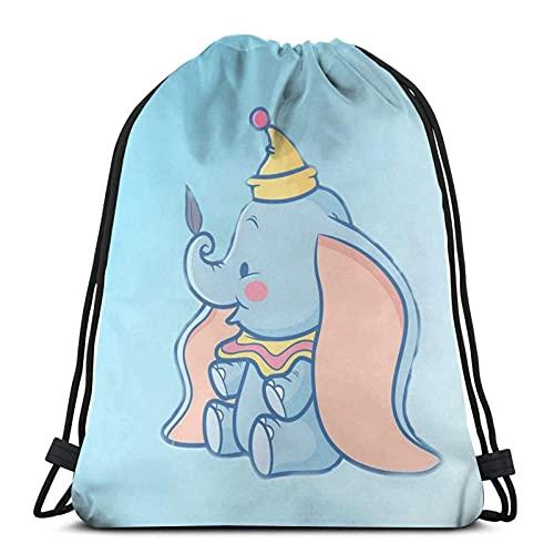 Mochila con cordón, lindo Dumbo, bolsa de cuerda resistente al agua, bolsa de playa para gimnasio, compras, deporte, yoga, medias de Navidad