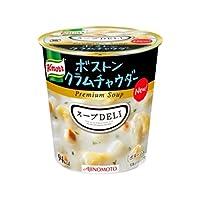 【まとめ買い】味の素 クノール スープDELI ボストンクラムチャウダー 21.8g×18カップ(6カップ×3ケース) ds-1456883