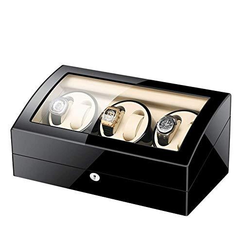 ZCYXQR Caja automática de enrollador de Reloj 6 + 7 con Motor silencioso Mabuchi Configuración de Modo de rotación 5 para la mayoría de los Relojes de Pulsera Adaptador de CA de batería (Color: E)