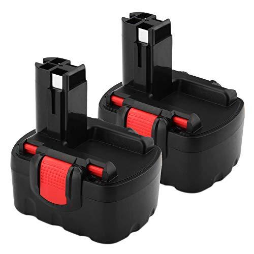 2X FUNMALL 14.4V 3.6Ah Ni-MH BAT040 Batteria Sostituzione per Bosch 2607335275 2607335533 2607335534 2607335711 2607335465 2607335685 2607335678 2607335276 BAT038 BAT040 BAT041 BAT140 BAT159 13614