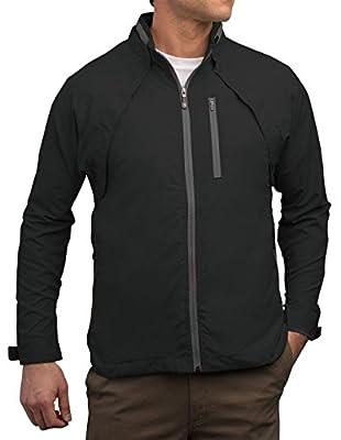 SCOTTeVEST Tropiformer Jacket - Rain Jackets Men, Travel Clothing, Windbreaker Black from