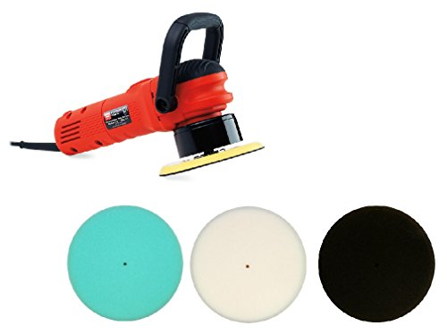 "Griot's Garage 10813STDCRD 6"" Dual Action Random Orbital Polisher with 10' Cord with Foam Pads"