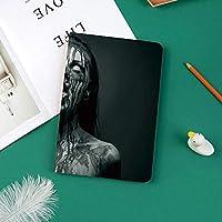 新しい ipad pro 11 2018 ケース スリムフィット シンプル 高級品質 防止 二つ折 開閉式 防衝撃デザイン 超軽量&超薄型 全面保護型 iPad Pro (11 インチ)装飾的なホラー画像を見上げて空の目を持つ異常な悲鳴モンスター女