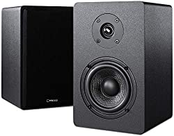 powerful Bookshelf speaker with Micca PB42X with 4-inch carbon fiber woofer and silk tweeter (pair)