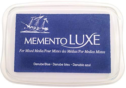 Tsukineko Memento Luxe Mixed Media Stempelkissen, Engelsrosa Danube Blue