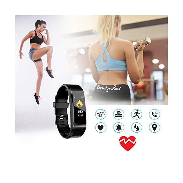 MuscleLocker Fitness Tracker, Monitor de actividad cardíaca, impermeable, pulsera inteligente con contador de pasos… 8