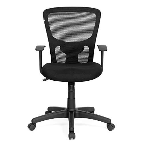Nilkamal Ultima Mid Back Mesh Chair, Black