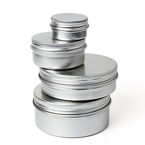 TOOGOO 50PCS Pot boitier boite aluminium epice baume pommade maquillage fard levre vide 50ml