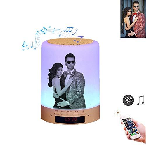 Luz de foto personalizada Lámpara Altavoz Bluetooth Wireless, LED Lá