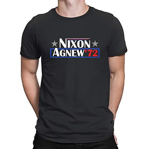 T-shirt casual - Richard Nixon 72 Retro Campagna Presidenziale Campagna - Girocollo Manica Corta Regali Nero XXL