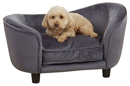 Enchanted Home Pet Ultra Plush Snuggle Pet Bed in Dark Grey