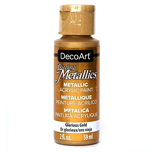 DecoArt DM-DA071 Dazzling Metallics 2-Ounce Glorious Gold Acrylic Paint