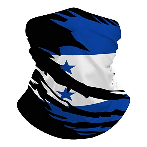Ripped Honduras Flag Summer Seamless Neck Gaiter Shield Scarf Tube Headwear Bandana Face Mask UV Protection for Men Women Motorcycle Cycling