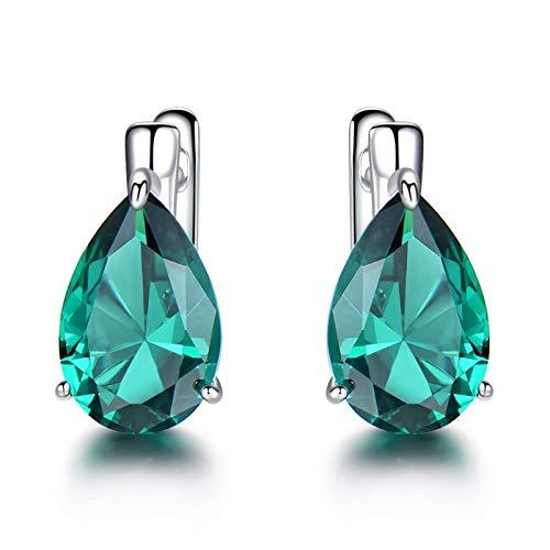 Beydodo Pendientes de Plata de Ley 925 Mujer Pendientes Azul Pendientes Gota de Agua Circonita Azul/Verde