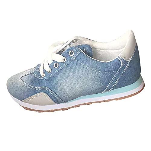 Bambas Mujer Zapatillas Deportivas Mujeres Zapatillas Casual Gimnasio Running Zapatos para Correr Transpirables Sneakers Ligeras y Transpirables Zapatos Deportivas Zapatillas Casual Brillantes Mujer