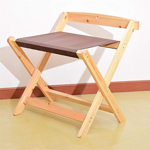 Suitcase Stand Solid Wood Luggage Stool Foldable Bedroom Bedside Clothes Storage Rack Hotel Rack Furniture-Original Wood Color Cloth Surface 60 * 50 * 65Cm