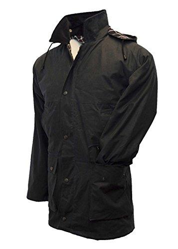 Walker & Hawkes - Mens Unpadded Wax Jacket Countrywear Hunting Waxed Coat - Navy - XX-Large