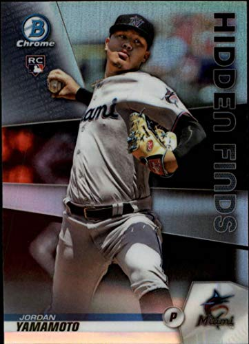 2020 Bowman Baseball Chrome Hidden Finds Refractor #HF-JY Jordan Yamamoto Miami Marlins Official MLB Trading Card Produced by Topps