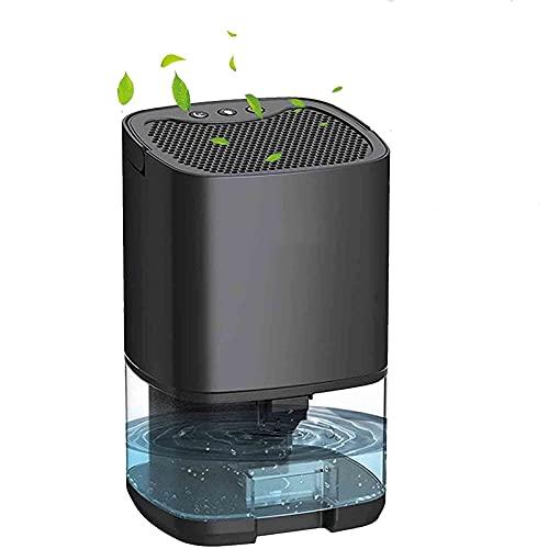 Piccolo Deumidificatore con GUIDATO Lampada, Elettrico purificatore d'aria, Calma portatile compatto Deumidificatore, ideale per casa, ufficio, cucina, cantina, garage (Color : Black)