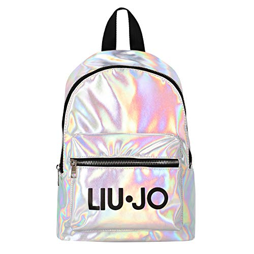 LIU.JO Liu Jo zaino Teen iridescente con Stampa Logo GA1212T485645002T Argento