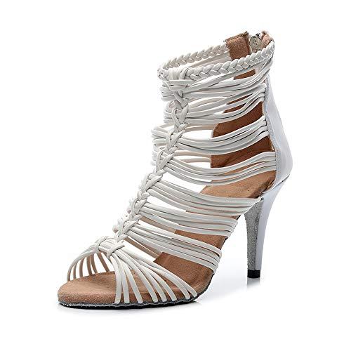 HROYL Mujer/Niña Zapatos de Baile de Salón con Diamantes de Imitación Latino...