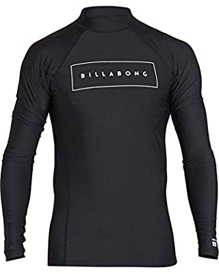 Billabong Men's All Day United Performance Fit Long Sleeve Rashguard Black Large by Billabong