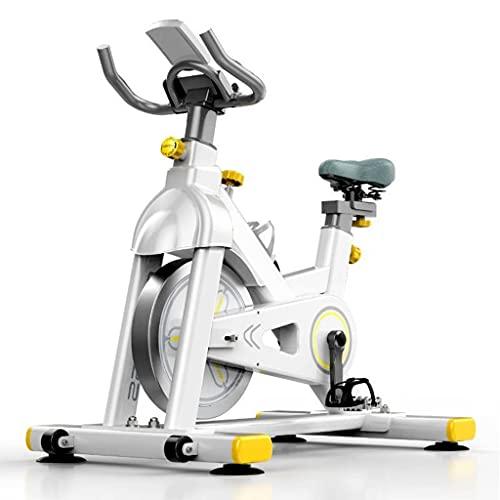 WOERD Bicicleta de Spinning Bicicleta Indoor de Volante de Inercia 6 Kg, Ultra Silencioso Aptitud Bici Y AB Trainer Speedbike, Asiento Ajustable, Pantalla LCD, Bicicleta Fitness hasta 150 Kg