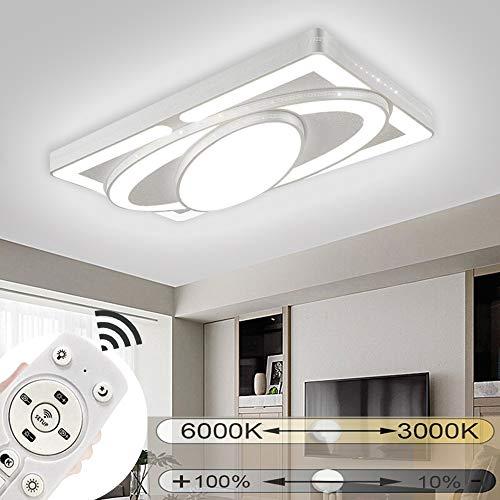JINPIKER LED Deckenleuchte 78W Dimmbar Deckenleuchten Raumschiff LED Panel Deckenlampe Wohnzimmer Schlafzimmer Energieeinsparung Innen-Beleuchtung