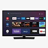 EAS Electric | E24AN70 | Televisor Negro | Televisión 24 Pulgadas | Smart TV | LED (ELED) | HD Ready 1366 x 768 16:9 | DVB-T/T2/C/S/S2 HEVC | WiFi | Android TV | Google Cast | USB 2 | HDMI 3