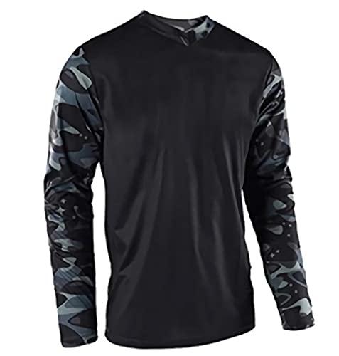 Down Hill - Camiseta de ciclismo de montaña para hombre, corte holgado, camiseta de ciclismo y descenso Imagen XL