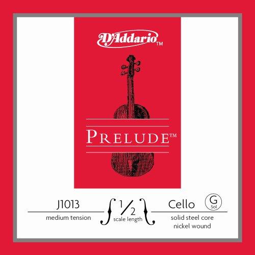 D'Addario Orchestral Prelude - Cuerda individual Sol para violonchelo, escala 1/2, tensión media