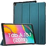 EasyAcc Hülle Kompatibel mit Samsung Galaxy Tab A 10.1 2019 T510/ T515 - Ultra Dünn mit Standfunktion Slim PU Leder Smart Schutzhülle Kompatibel mit Samsung Galaxy Tab A 10.1 Zoll 2019, Pfauenblau