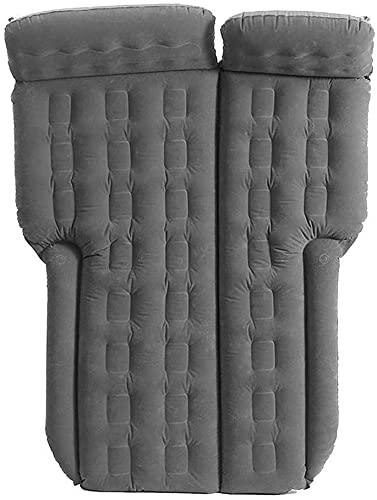 WSVULLD Bolsa de Dormir Cama Inflable Cama Colchón de Aire para Acampar con 2 Almohadas de Aire SUV Universal Gray