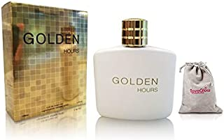 Golden Hours Perfume For Men With A Luxurious Suede NovoGlow Pouch, Eau De Parfum-3.4 Oz, Perfect Gift for Men