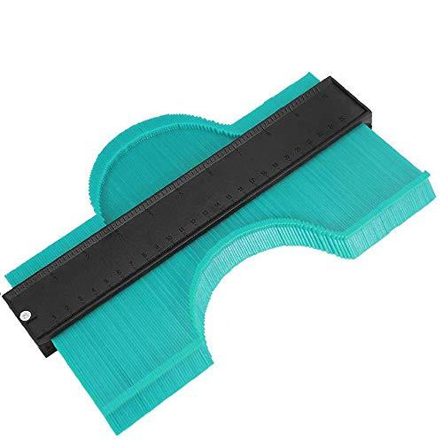 型取りゲージ コンターゲージ 250mm 測定ゲージ 測定工具プラスチック製 目盛付き (グリーン)