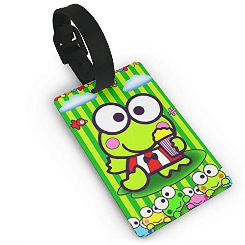 Keroppi Frog Luggage Tag Adjustable Strap Bag Baggage Name,Accessories Tags for Tourists