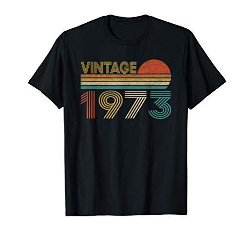 Vintage 1973 48 Anni Compleanno Uomo Donna Regalo Divertente Maglietta