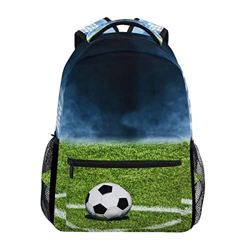 poiuytrew Campo de fútbol Esquina Mochila de fútbol Bolsas de Hombro para Estudiantes Mochila de Viaje Mochilas Escolares