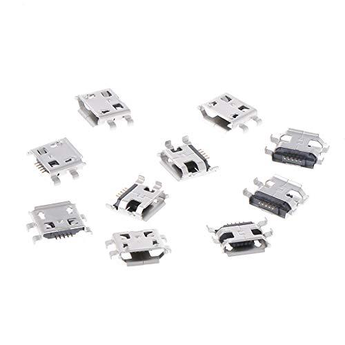 qianqian56 10 Pcs Micro USB 5 Pin Vrouw SMD 4 Pin Legs DIP Socket Connector