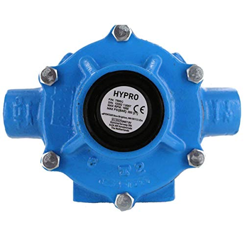 Hypro 7560C Cast Iron 8-Roller Pump, Viton Seals, Super Rollers Standard, Chemical Resistant, 22.5 GPM, 300 PSI, Max 1,000 RPM