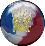 Brunswick Twist Reactive Bowling Ball- Red/White/Blue 14lbs