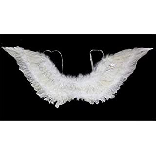 Angel Feather Wings and Halo Headband for Cosplay, Party Costumes, White Children's Day