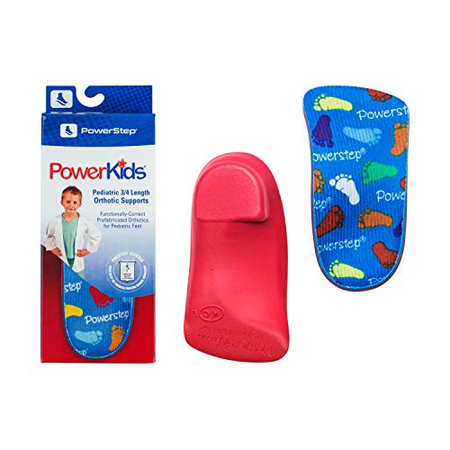 Powerstep Kid's PowerKids Shoe Insoles, Blue, Youth Size 3-4
