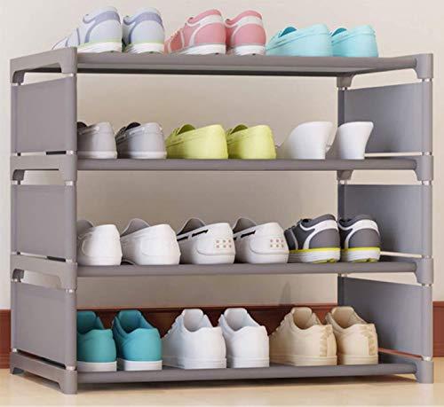 JIADUOBAO Zapatero plegable, zapatero de almacenamiento multicapa, armario de tejido económico, zapatero no tejido (color A: A)