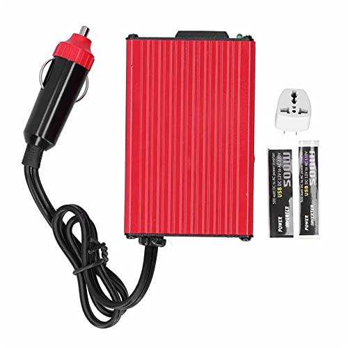 Inversor de corriente,Yctze inversor de corriente de 500 W puertos USB dobles para automóvil hogar exterior CC 12 V a CA(50+/-3Hz)