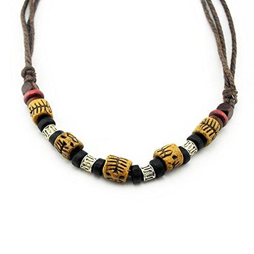 Modelo: Tibk1 serie de collares Tibet 1. Material: collar de algodón. Longitud de cadena: ajustable mediante nudos corredizos (aprox. 40cm–70cm). Unisex. Producto hecho a mano.